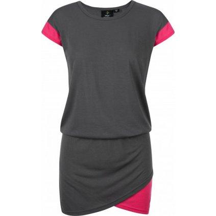 Dámské bavlněné šaty KILPI Labatut-w tmavě šedá