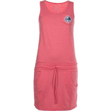 Dámské bavlněné šaty KILPI Fantasia-w růžová
