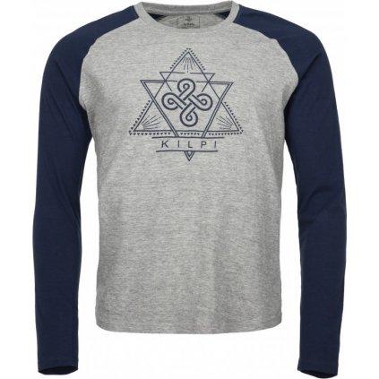 Pánské bavlněné tričko KILPI Piqar-m tmavě modrá