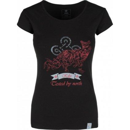 Dámské bavlněné tričko KILPI Foxy-w černá