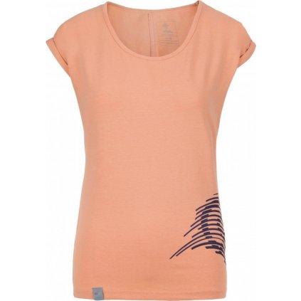 Dámské bavlněné tričko KILPI Oliva-w světle červená
