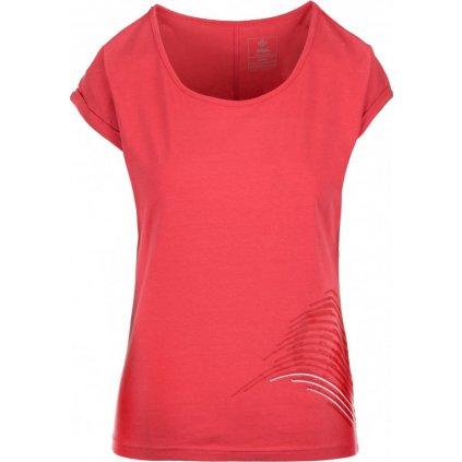 Dámské bavlněné tričko KILPI Oliva-w růžová