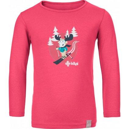 Dětské bavlněné tričko KILPI Lero-j růžová