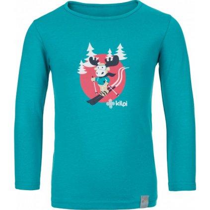 Dětské bavlněné tričko KILPI Lero-j tyrkysová