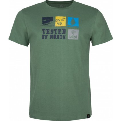 Pánské bavlněné tričko KILPI Toby-m khaki