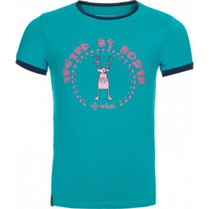 Dětské tričko KILPI Mercy-jg tyrkysová