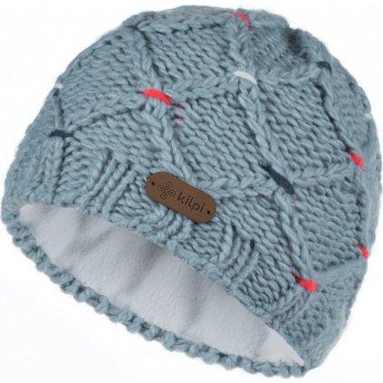Dámská pletená čepice KILPI Crochy-w světle modrá
