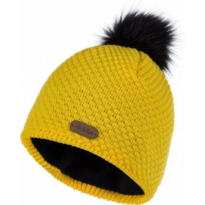 Dámská pletená čepice KILPI Alpina-w žlutá