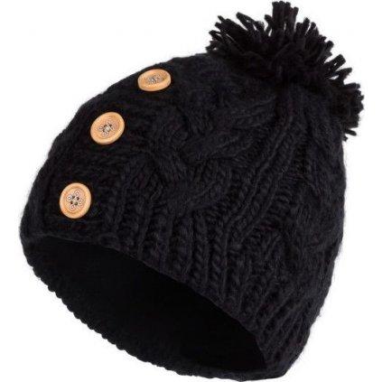 Dámská pletená čepice KILPI Pompom-w černá