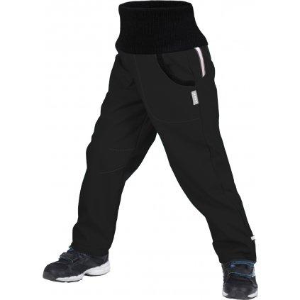 Dětské softshellové kalhoty UNUO s fleecem Street, Černá