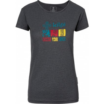 Dámské funkční tričko KILPI Giacinto-w tmavě šedá
