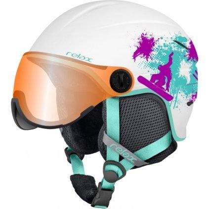 Lyžařská helma RELAX Twister Visor