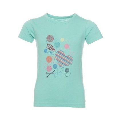 Dívčí triko SAM 73 s krátkým rukávem Tmavší mint zelená