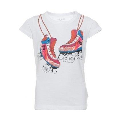 Dívčí triko SAM 73 s krátkým rukávem bílá