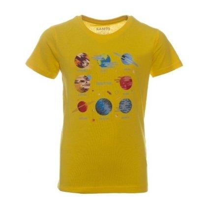 Chlapecké triko SAM 73 s krátkým rukávem žlutá