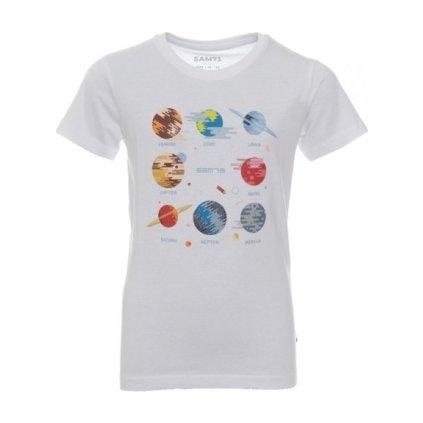 Chlapecké triko SAM 73 s krátkým rukávem bílá