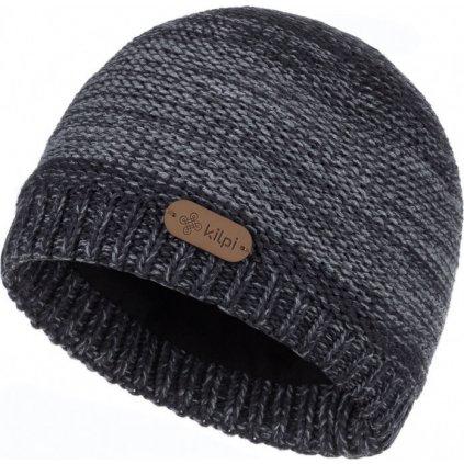 Pánská pletená čepice KILPI Merido-m tmavě šedá