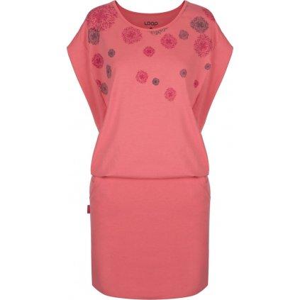 Dámské sportovní šaty LOAP Adila růžové