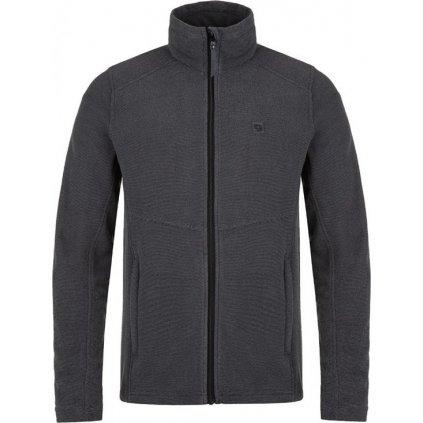Pánský fleecový svetr LOAP Gamon černá žíhaná