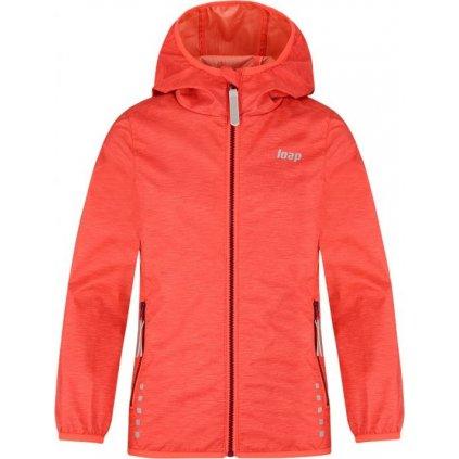 Dětská softshellová bunda LOAP Lyuk oranžová
