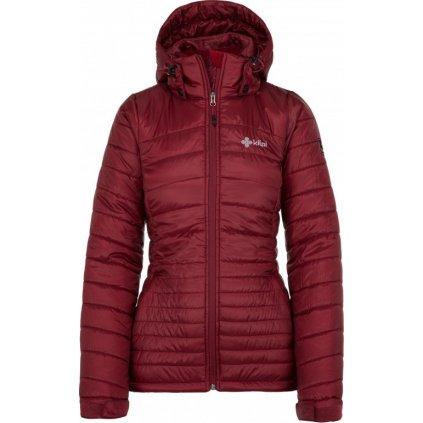 Dámská zimní bunda KILPI Girona-w tmavě červená