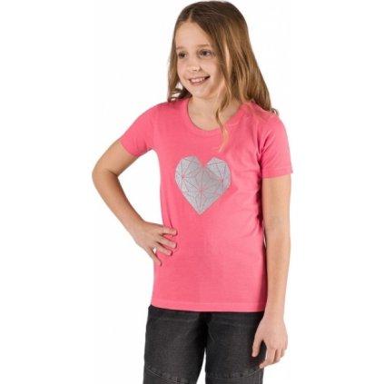 Dívčí triko SAM 73 s krátkým rukávem růžové