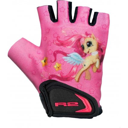 Dětské cyklistické rukavice R2 Voska růžové