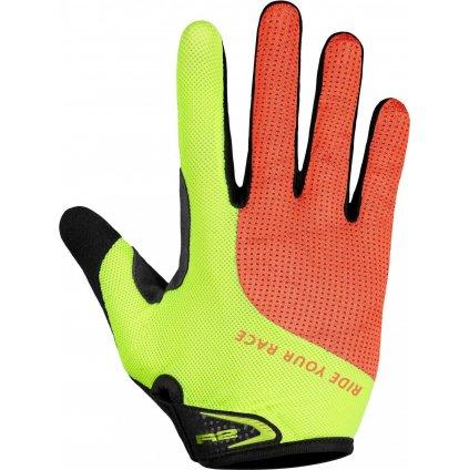 Cyklistické rukavice R2 Pros žluté