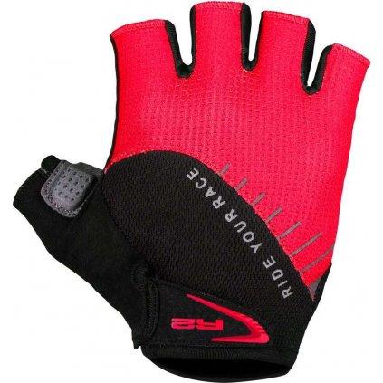 Cyklistické rukavice R2 Vouk červené