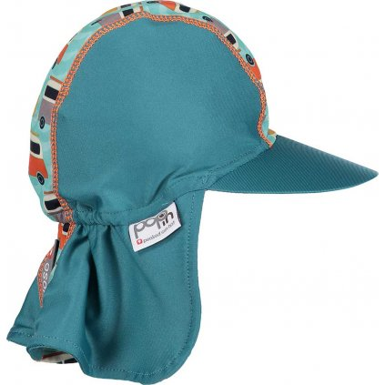 Dětská kšiltovka UNUO POP-IN UV  Campervan zelená