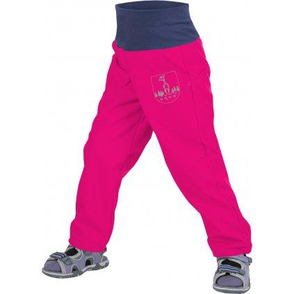 Batolecí softshellové kalhoty UNUO bez zateplení Fuchsiové + reflexní obrázek Evžen