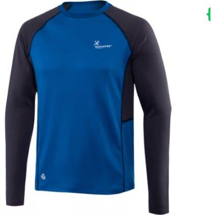 Pánské běžecké triko KLIMATEX Alano modrá