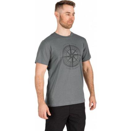 Pánské triko s krátkým rukávem SAM 73 Šedá tmavá