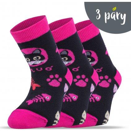 Bambusové ponožky UNUO Kočka pes holka