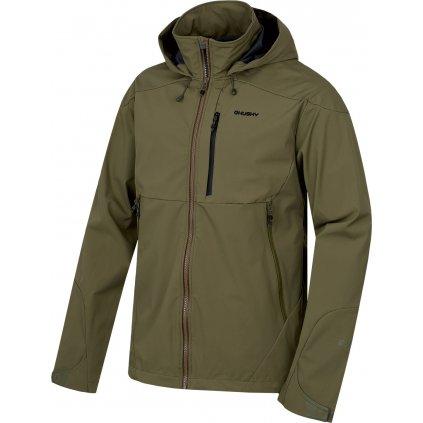 Pánská softshellová bunda HUSKY Sauri M tm. olivová