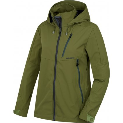 Dámská softshellová bunda HUSKY Sauri L tm. olivová