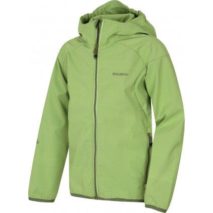Dětská softshellová bunda HUSKY Zally kids sv. zelená