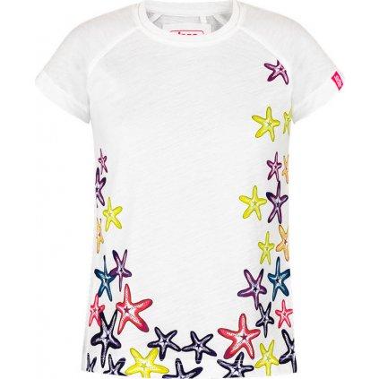 Dětské triko LOAP Ajta s krátkým rukávem bílé