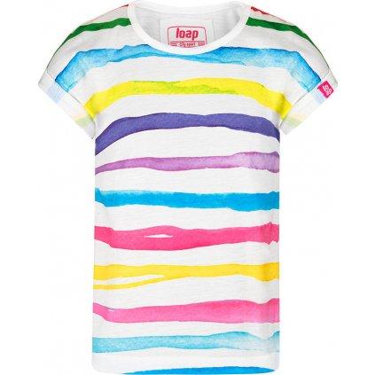 Dětské triko LOAP Ajsi s krátkým rukávem bílé