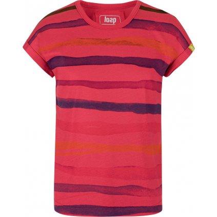 Dětské triko LOAP Ajsi s krátkým rukávem červené