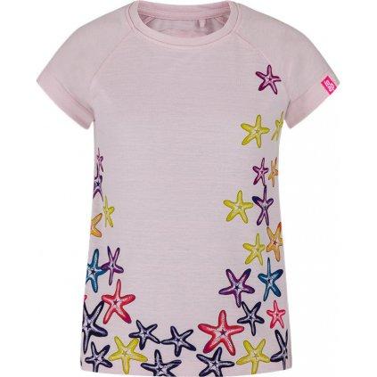 Dětské triko LOAP Ajta s krátkým rukávem růžové