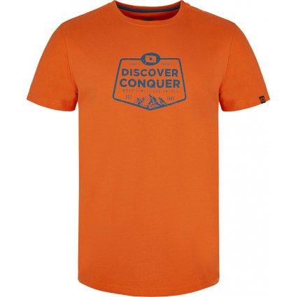 Pánské triko LOAP Anakin s krátkým rukávem oranžové