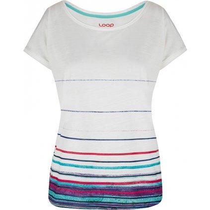 Dámské triko LOAP Alby s krátkým rukávem bílé