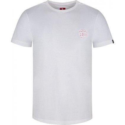 Pánské triko LOAP Antti s krátkým rukávem bílé