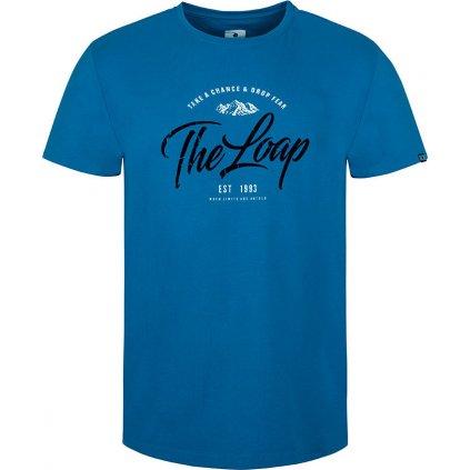 Pánské triko LOAP Anako s krátkým rukávem modré