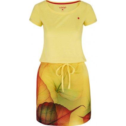 Dámské sportovní šaty LOAP Alysa žluté