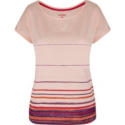 Dámské triko LOAP Alby s krátkým rukávem růžové
