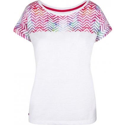 Dámské triko LOAP Alaska s krátkým rukávem bílé
