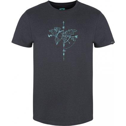 Pánské triko LOAP Anat s krátkým rukávem šedé