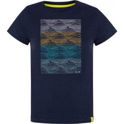 Dětské triko LOAP Baris s krátkým rukávem modré